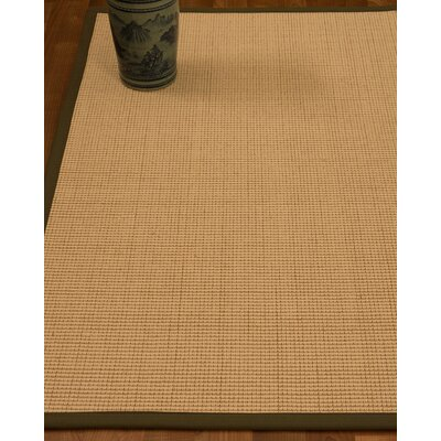 Chaves Border Hand-Woven Wool Beige/Malt Area Rug Rug Size: Rectangle 5 x 8, Rug Pad Included: Yes
