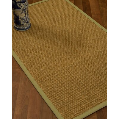 Rosabel Border Hand-Woven Beige/Khaki Area Rug Rug Size: Rectangle 8 x 10, Rug Pad Included: Yes