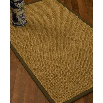Rosabel Border Hand-Woven Beige/Malt Area Rug Rug Size: Rectangle 9 x 12, Rug Pad Included: Yes