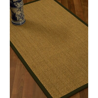 Rosabel Border Hand-Woven Beige/Moss Area Rug Rug Size: Rectangle 9 x 12, Rug Pad Included: Yes