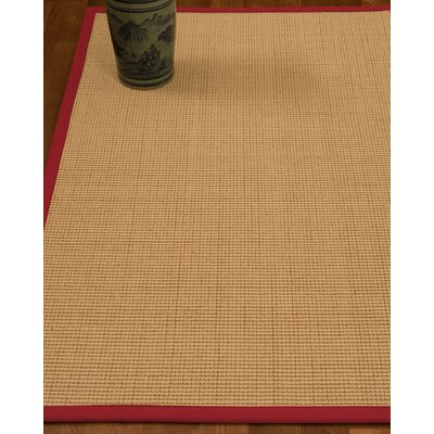 Chaves Border Hand-Woven Wool Beige/Red Area Rug Rug Size: Rectangle 5 x 8, Rug Pad Included: Yes