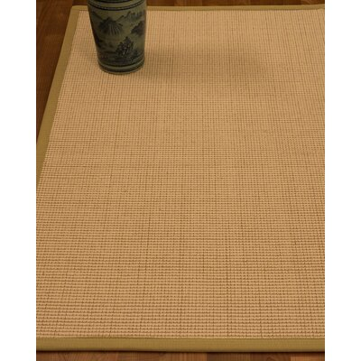 Chaves Border Hand-Woven Wool Beige/Sage Area Rug Rug Size: Rectangle 4 x 6, Rug Pad Included: Yes