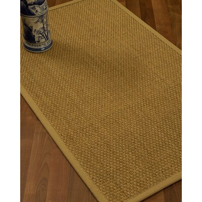 Rosabel Border Hand-Woven Beige/Sage Area Rug Rug Size: Runner 26 x 8, Rug Pad Included: No