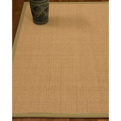 Chaves Border Hand-Woven Wool Beige/Sand Area Rug Rug Size: Rectangle 6 x 9, Rug Pad Included: Yes