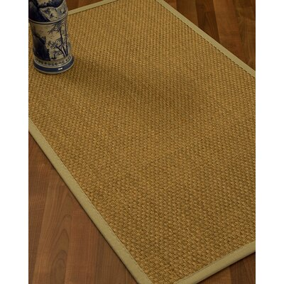 Rosabel Border Hand-Woven Beige/Sand Area Rug Rug Size: Runner 26 x 8, Rug Pad Included: No