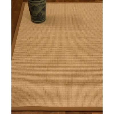 Chaves Border Hand-Woven Wool Beige/Sienna Area Rug Rug Size: Rectangle 6 x 9, Rug Pad Included: Yes