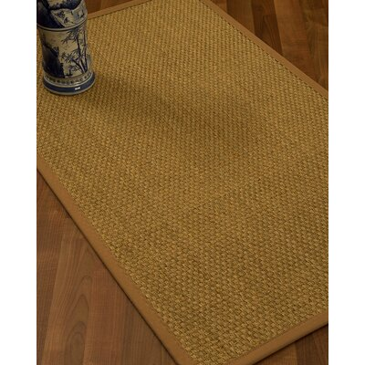 Rosabel Border Hand-Woven Beige/Sienna Area Rug Rug Size: Rectangle 9 x 12, Rug Pad Included: Yes