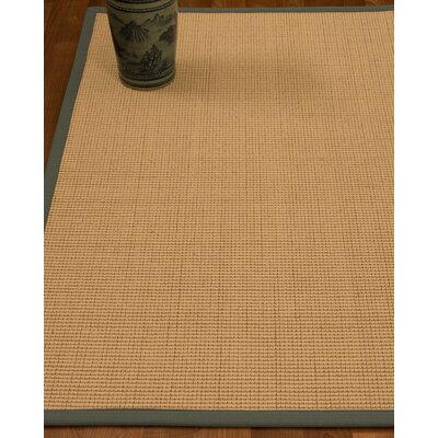 Chaves Border Hand-Woven Wool Beige/Stone Area Rug Rug Size: Rectangle 5 x 8, Rug Pad Included: Yes