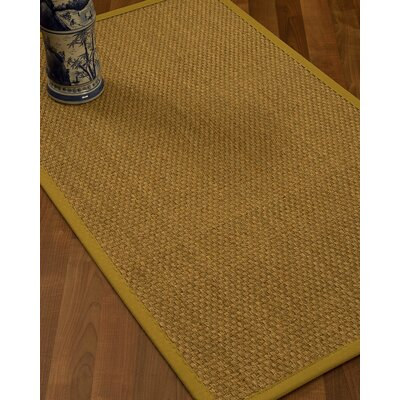 Rosabel Border Hand-Woven Beige/Tan Area Rug Rug Size: Runner 26 x 8, Rug Pad Included: No