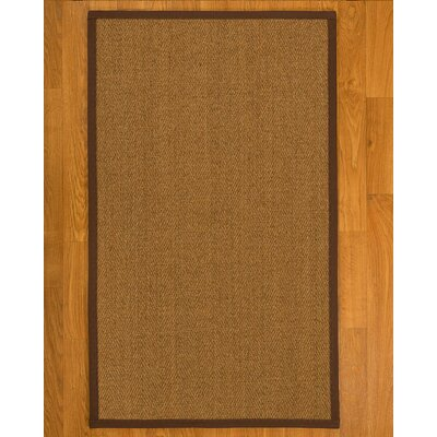 Asmund Border Hand-Woven Brown Area Rug Rug Size: Rectangle 12 x 15, Rug Pad Included: Yes