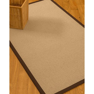Chea Border Hand-Woven Wool Beige/Brown Area Rug Rug Size: Rectangle 9 x 12, Rug Pad Included: Yes