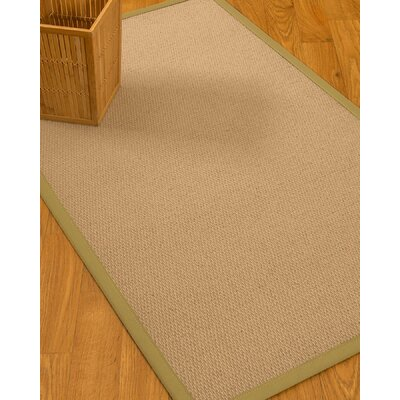 Chea Border Hand-Woven Wool Beige/Khaki Area Rug Rug Size: Rectangle 9 x 12, Rug Pad Included: Yes