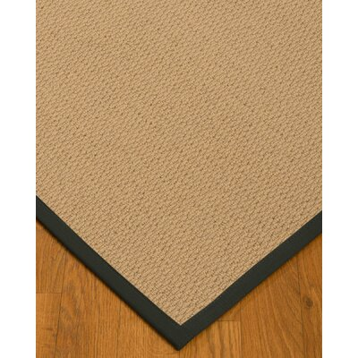Chea Border Hand-Woven Wool Beige/Metal Area Rug Rug Size: Rectangle 5 x 8, Rug Pad Included: Yes