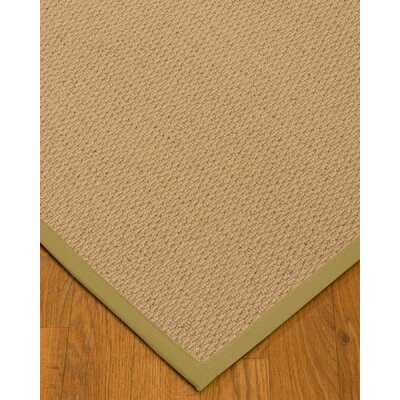 Chea Border Hand-Woven Wool Beige/Natural Area Rug Rug Size: Rectangle 6 x 9, Rug Pad Included: Yes