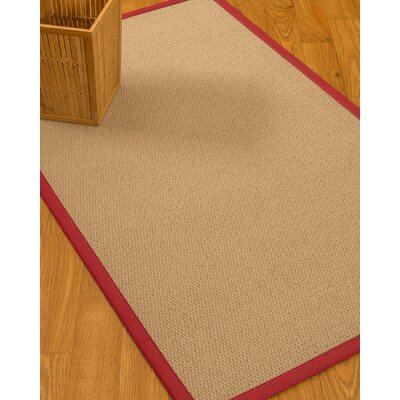 Chea Border Hand-Woven Wool Beige/Red Area Rug Rug Size: Rectangle 5 x 8, Rug Pad Included: Yes