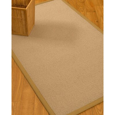 Chea Border Hand-Woven Wool Beige/Sage Area Rug Rug Size: Rectangle 9 x 12, Rug Pad Included: Yes