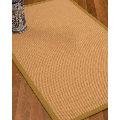 Lafayette Border Hand-Woven Wool Beige/Sage Area Rug Rug Size: Rectangle 9 x 12, Rug Pad Included: Yes