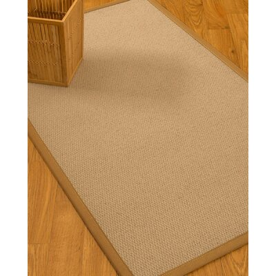 Chea Border Hand-Woven Woaol Beige/Sienna Area Rug Rug Size: Runner 26 x 8, Rug Pad Included: No