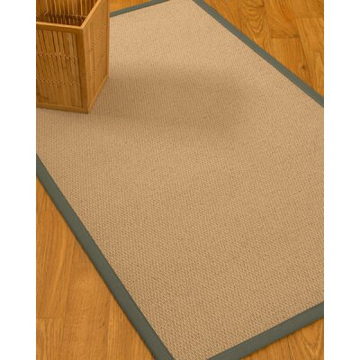 Chea Border Hand-Woven Wool Beige/Stone Area Rug Rug Size: Rectangle 4 x 6, Rug Pad Included: Yes