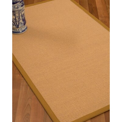 Lafayette Border Hand-Woven Wool Beige/Sienna Area Rug Rug Size: Runner 26 x 8, Rug Pad Included: No