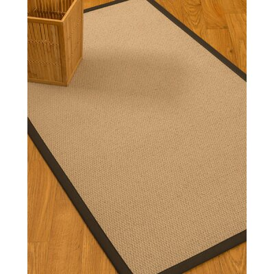 Chea Border Hand-Woven Wool Beige/Fudge Area Rug