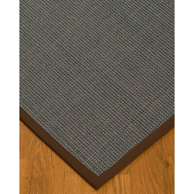 Ivy Border Hand-Woven Gray/Brown Area Rug Rug Size: Rectangle 5 x 8, Rug Pad Included: Yes