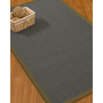 Ivy Border Hand-Woven Gray/Fossil Area Rug Rug Size: Rectangle 6 x 9, Rug Pad Included: Yes