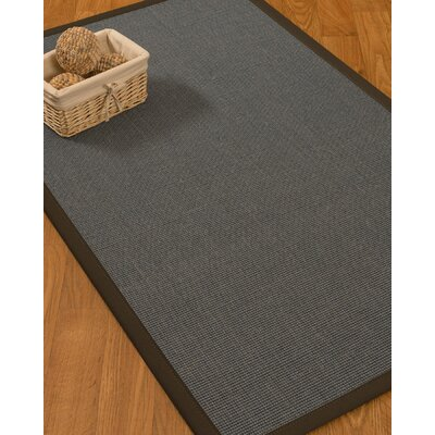 Ivy Border Hand-Woven Gray/Fudge Area Rug Rug Size: Rectangle 6 x 9, Rug Pad Included: Yes