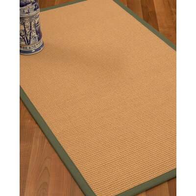 Lafayette Border Hand-Woven Wool Beige/Fossil Area Rug Rug Size: Rectangle 6 x 9, Rug Pad Included: Yes