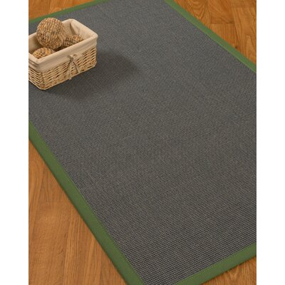 Ivy Border Hand-Woven Gray/Green Area Rug Rug Size: Runner 26 x 8, Rug Pad Included: No