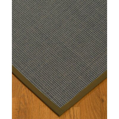 Ivy Border Hand-Woven Gray/Malt Area Rug Rug Size: Rectangle 4' x 6', Rug Pad Included: Yes