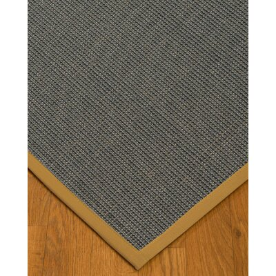 Ivy Border Hand-Woven Gray/Sage Area Rug Rug Size: Rectangle 6 x 9, Rug Pad Included: Yes