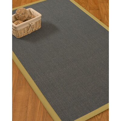 Ivy Border Hand-Woven Gray/Sand Area Rug Rug Size: Rectangle 8 x 10, Rug Pad Included: Yes