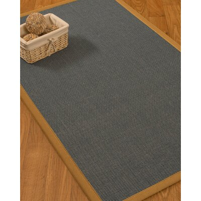 Ivy Border Hand-Woven Gray/Sienna Area Rug Rug Size: Rectangle 5 x 8, Rug Pad Included: Yes