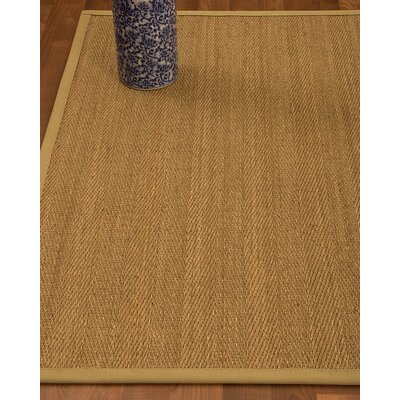 Heidenreich Border Hand-Woven Beige/Sage Area Rug Rug Size: Rectangle 5 x 8, Rug Pad Included: Yes