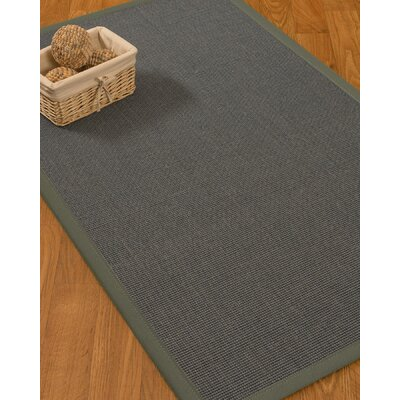 Ivy Border Hand-Woven Gray/Stone Area Rug Rug Size: Rectangle 6 x 9, Rug Pad Included: Yes