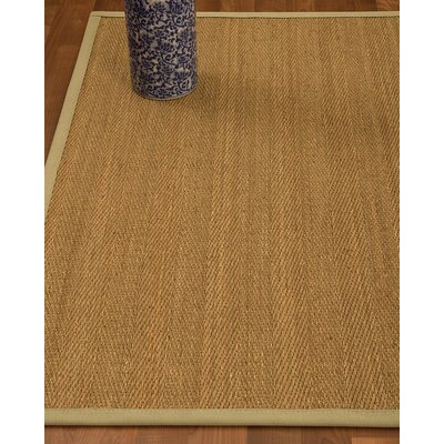 Heidenreich Border Hand-Woven Beige/Sand Area Rug Rug Size: Rectangle 8 x 10, Rug Pad Included: Yes