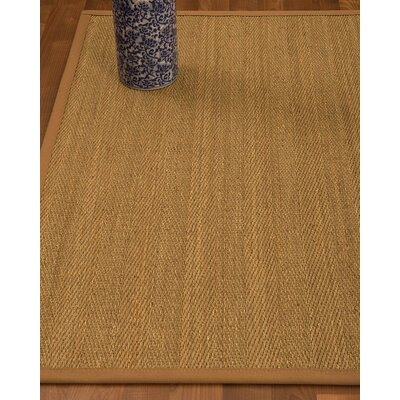 Heidenreich Border Hand-Woven Beige/Sienna Area Rug Rug Size: Rectangle 6 x 9, Rug Pad Included: Yes
