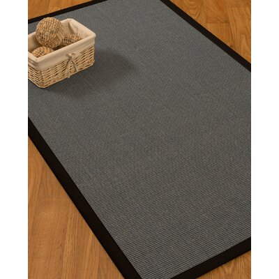 Ivy Border Hand-Woven Gray/Black Area Rug