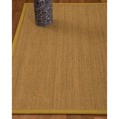 Heidenreich Border Hand-Woven Beige/Tan Area Rug Rug Size: Rectangle 4 x 6, Rug Pad Included: Yes