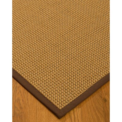 Atia Border Hand-Woven Beige/Brown Area Rug Rug Size: Rectangle 6 x 9, Rug Pad Included: Yes