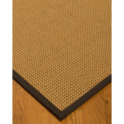 Atia Border Hand-Woven Beige/Brown Area Rug with Free Rug Pad