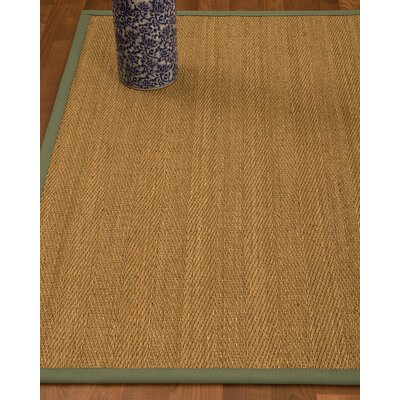 Heidenreich Border Hand-Woven Beige/Fossil Area Rug Rug Size: Rectangle 5 x 8, Rug Pad Included: Yes