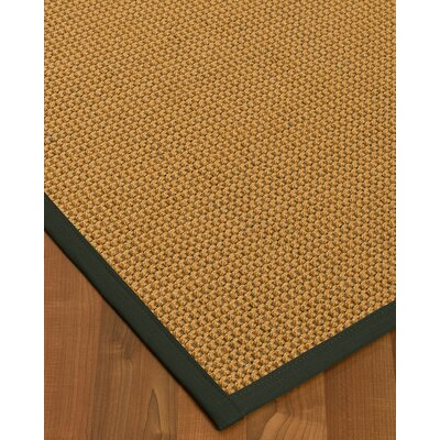 Atia Border Hand-Woven Beige/Metal Area Rug Rug Size: Rectangle 9 x 12, Rug Pad Included: Yes