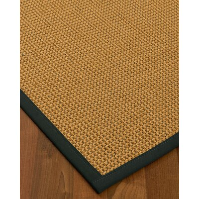 Atia Border Hand-Woven Beige/Onyx Area Rug Rug Size: Rectangle 12 x 15, Rug Pad Included: Yes