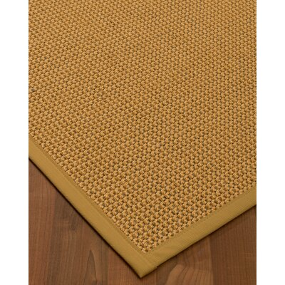 Atia Border Hand-Woven Beige Area Rug Rug Size: Rectangle 4 x 6, Rug Pad Included: Yes