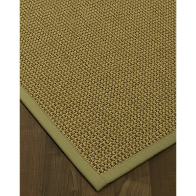 Atia Border Hand-Woven Beige/Sand Area Rug Rug Size: Rectangle 8 x 10, Rug Pad Included: Yes