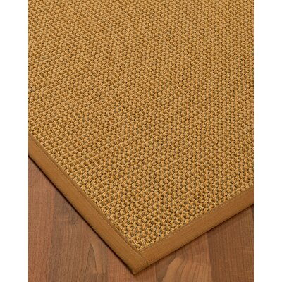 Atia Border Hand-Woven Beige/Sienna Area Rug Rug Size: Rectangle 9 x 12, Rug Pad Included: Yes