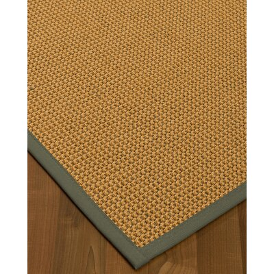 Atia Border Hand-Woven Beige/Stone Area Rug Rug Size: Rectangle 9 x 12, Rug Pad Included: Yes