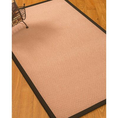Farnham Border Hand-Woven Wool Pink/Fudge Area Rug Rug Size: Rectangle 9 x 12, Rug Pad Included: Yes